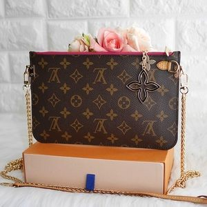 💖LV Neverfull Mono GM Pouch on Chain MS4144